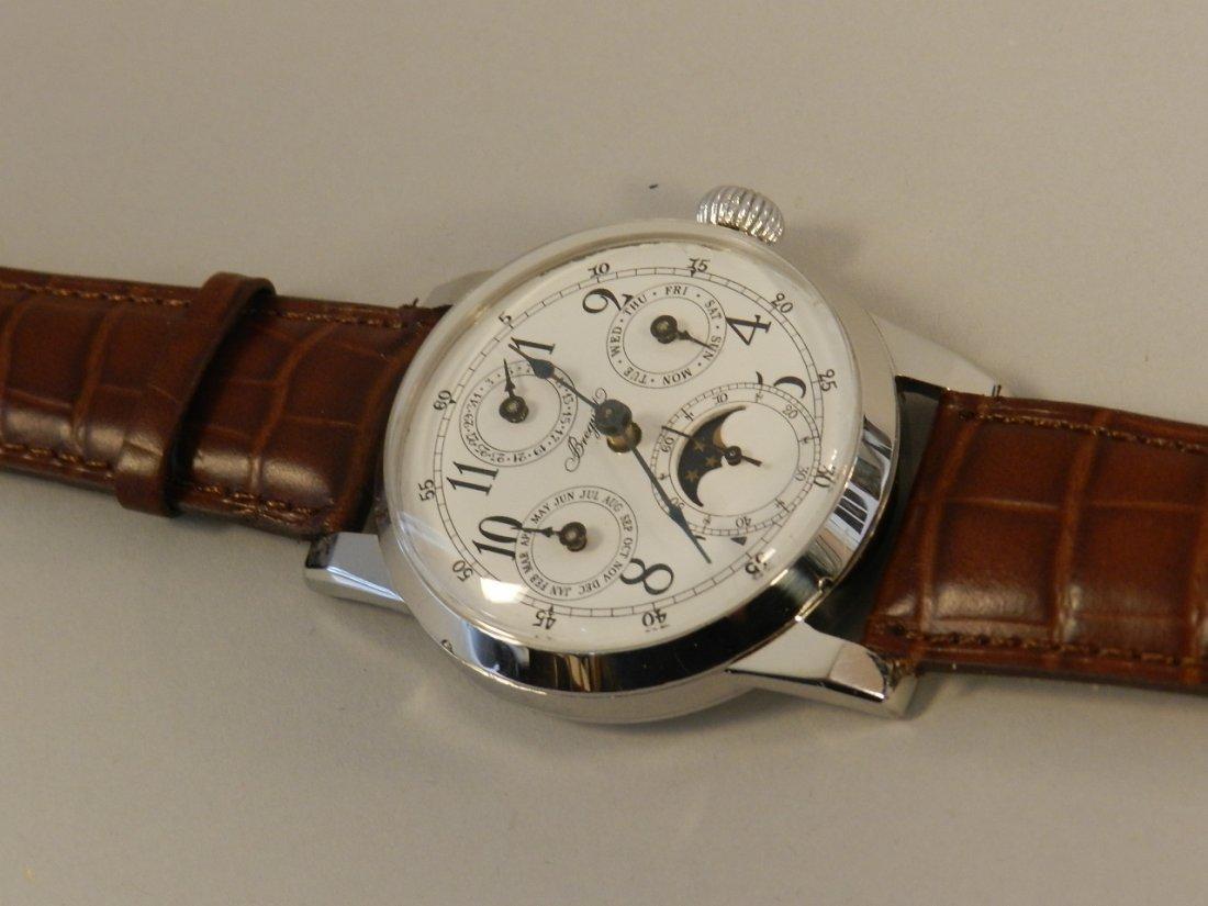 Vintage Breguet Moonphase Leather Mens Watch