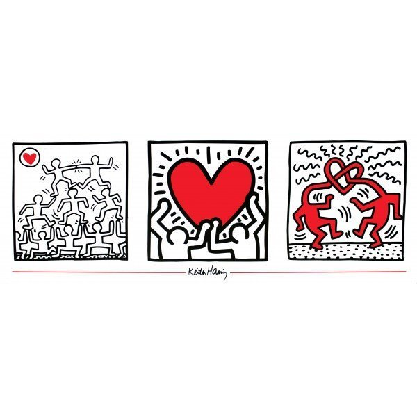 Haring- Untitled (1987) lithograph