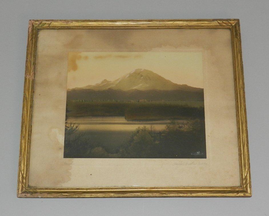 Ashael Curtis Signed Photograph Mt. Rainier