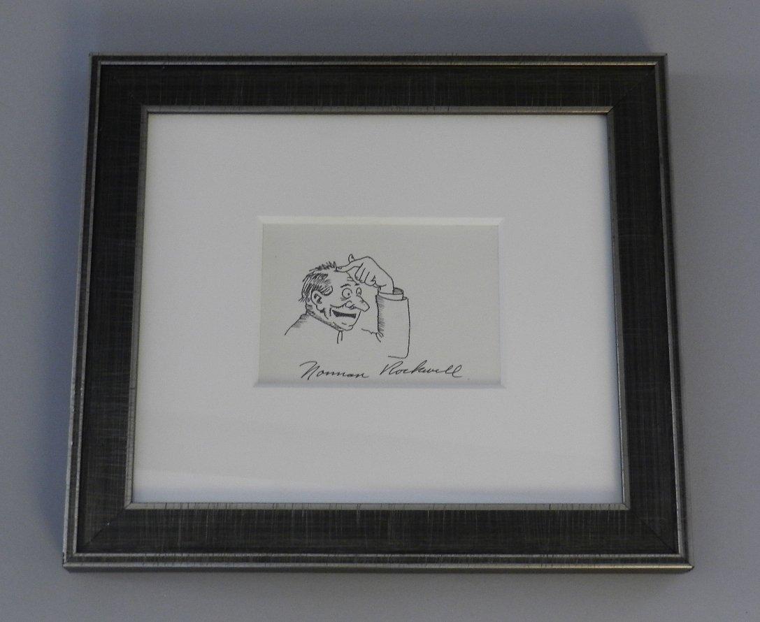 Original Norman Rockwell Pen Drawing
