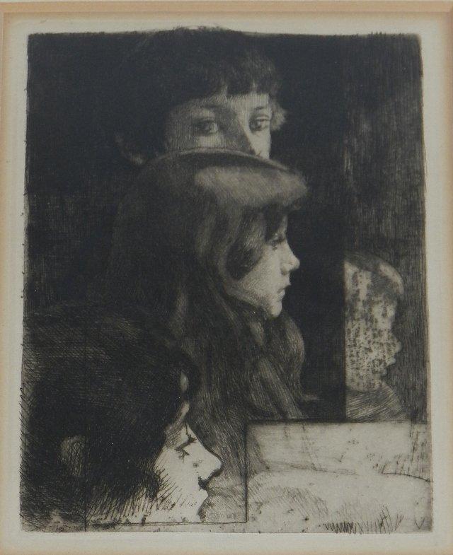 Robert Besnard (1881-1914) Original Etching