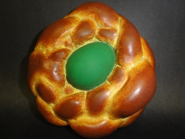 Jeff Koons, Bread with Egg (Green), 1995