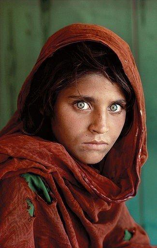 STEVE MCCURRY b. 1950 Afghan Girl, 1985 Hand Signed