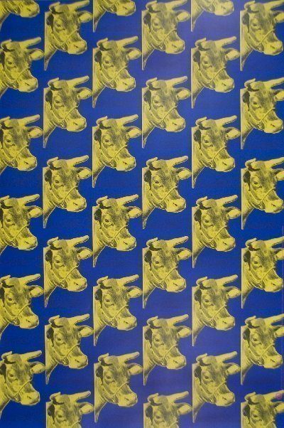 Andy Warhol Multiple Cows Blue Offset Lithograph