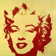 Andy Warhol Marilyn Serigraph Golden 6