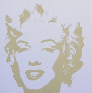 Andy Warhol Marilyn Serigraph Golden 7