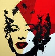 Andy Warhol Marilyn Serigraph Golden 8