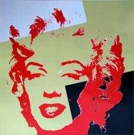 Andy Warhol Marilyn Serigraph Golden 10