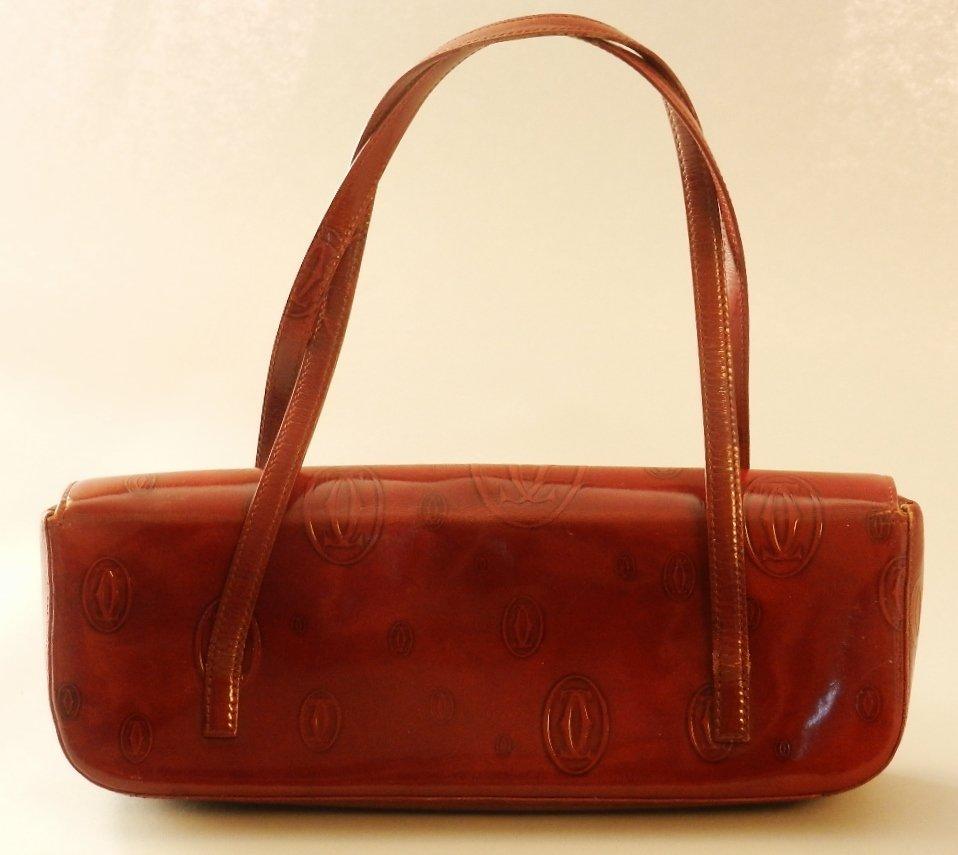 "Cartier ""Must De Birthday"" Red Leather Handbag"