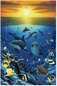Robert Wyland Ocean Calling Giclee on Canvas Signed
