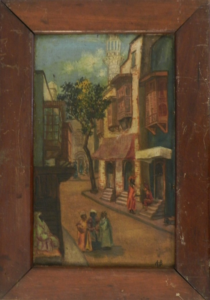 19th Century Oil on Canvas Signed A.B.