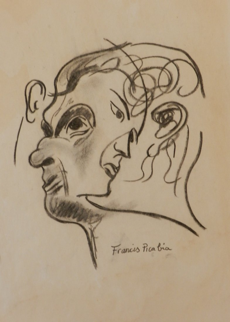 Pastel Drawing signed Francis Picabia