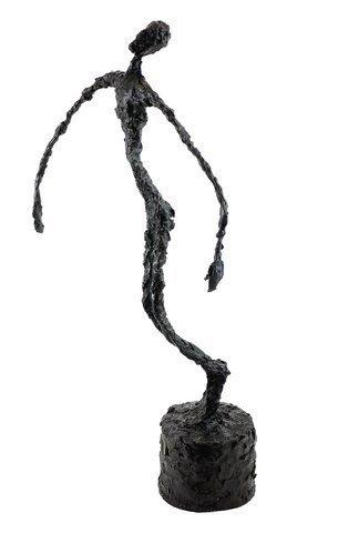 """Alberto Giacometti """"Falling Man"""" Bronze Sculpture - 4"""