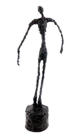 """Alberto Giacometti """"Falling Man"""" Bronze Sculpture - 5"""