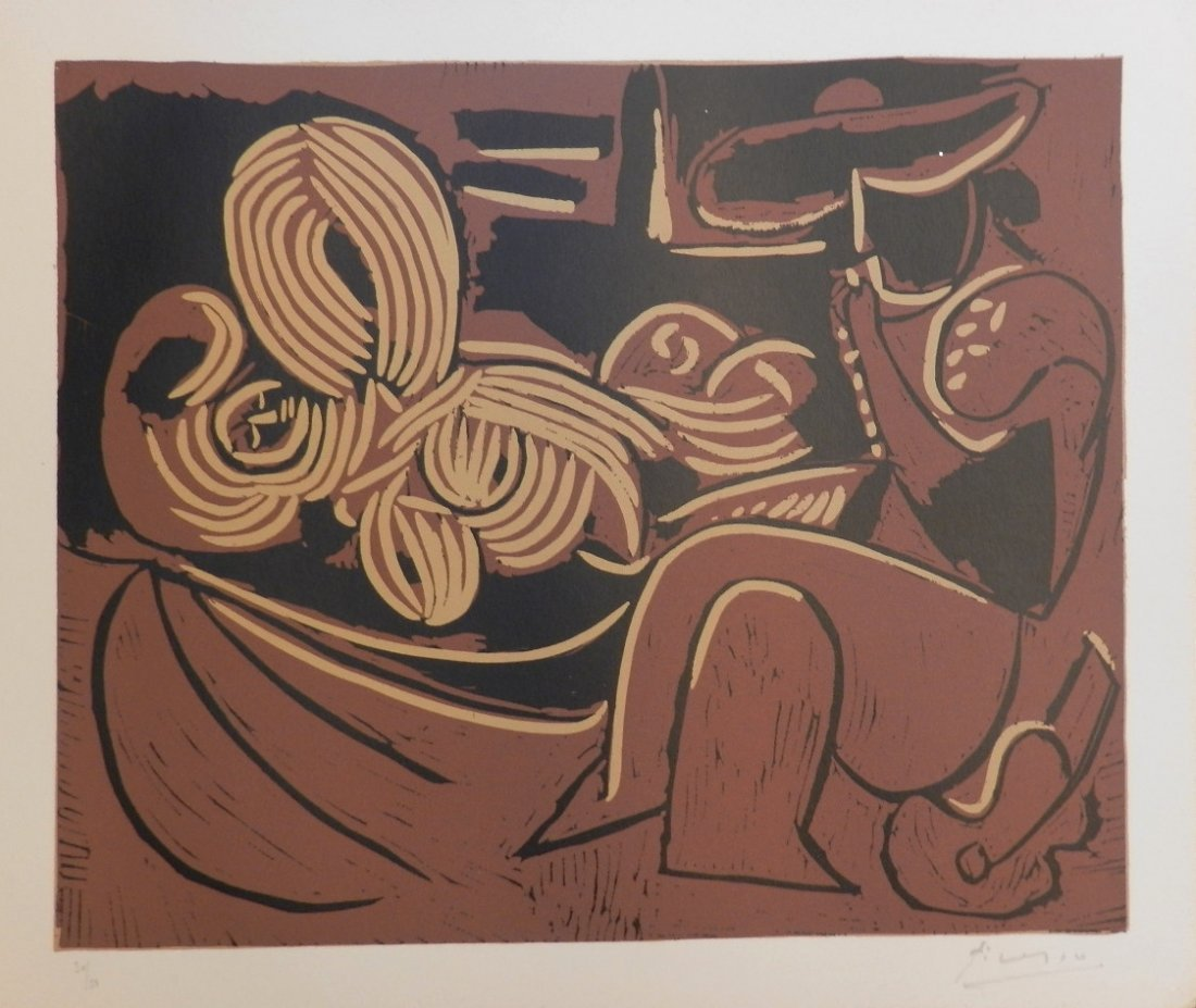 Pablo Picasso (Spanish, 1881-1973) Linocut