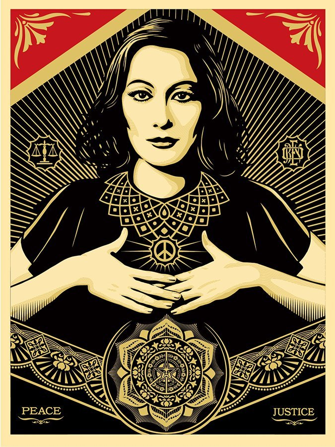 "Shepard Fairey (B.1970) ""Peace and Justice Woman"""
