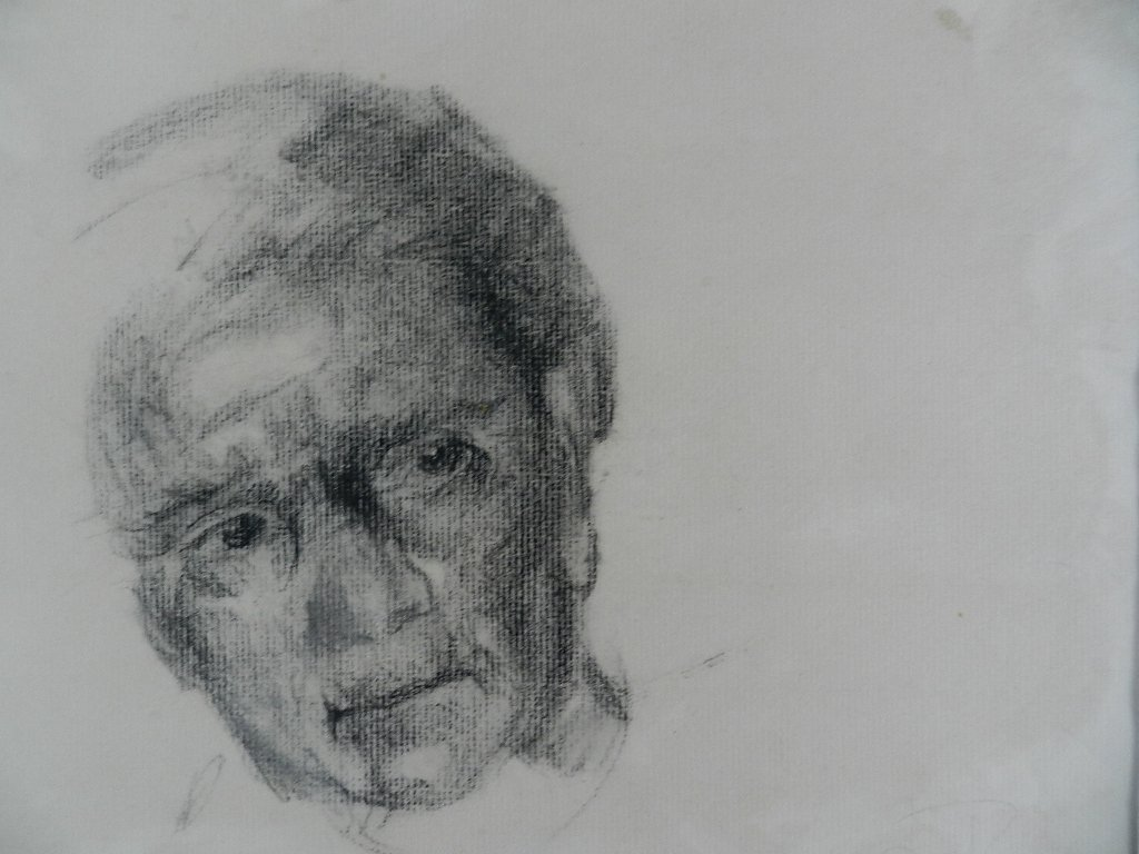 Charcoal Sketch Of Man, Andrew Wyeth??
