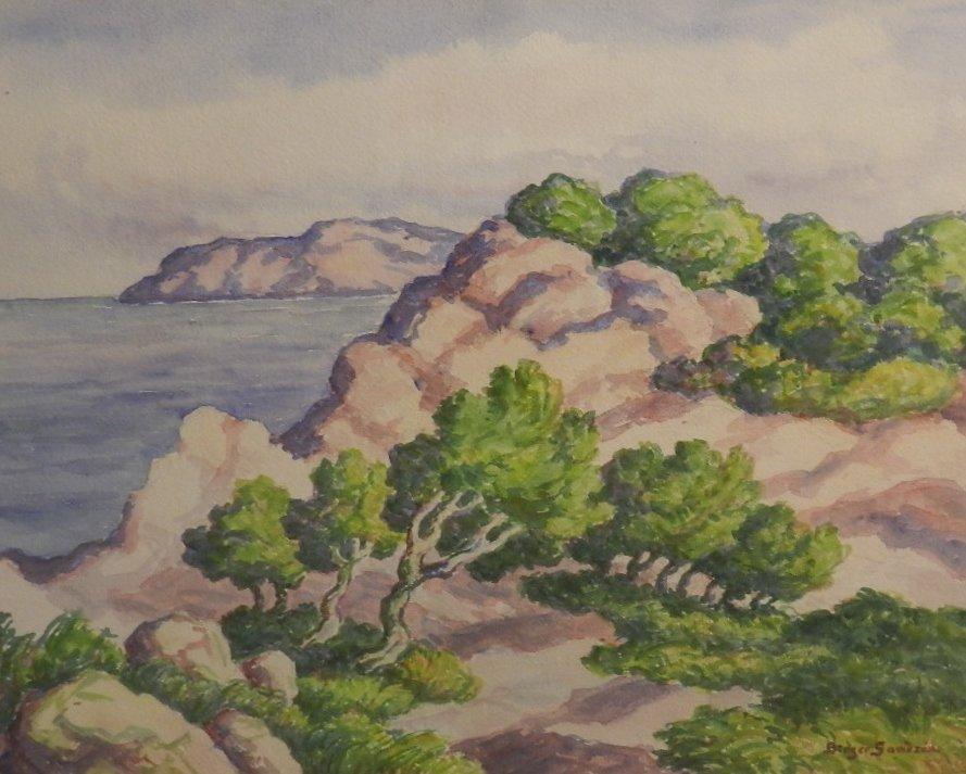 Birger Sandzen, (American, 1871-1954),