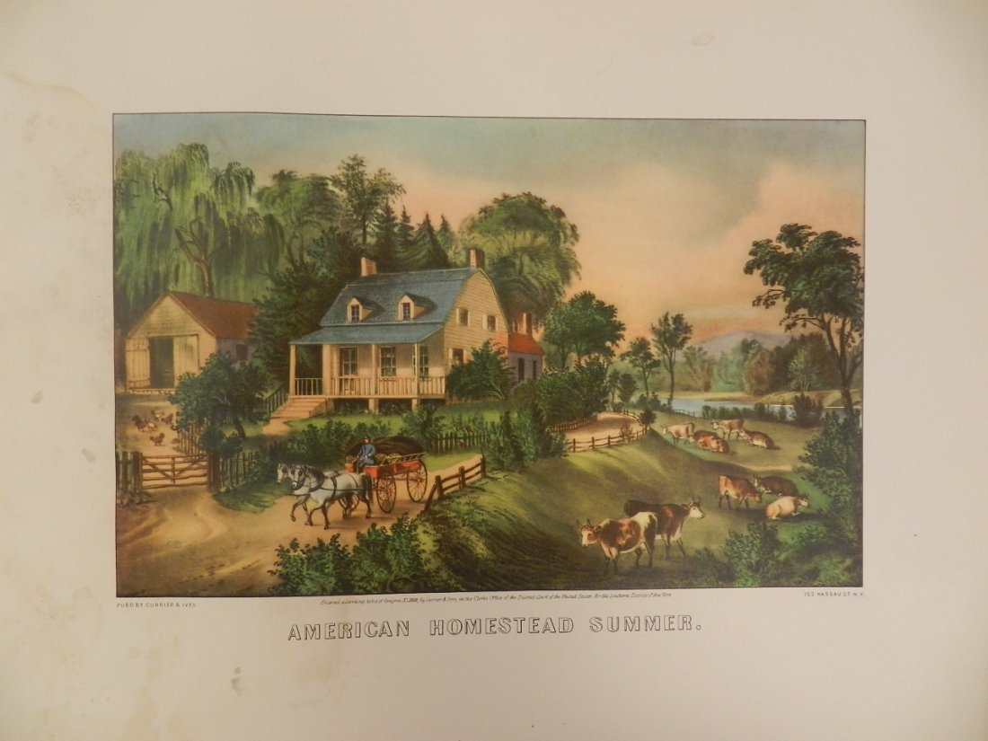 Original Currier & Ives Hand Colored Lithograph