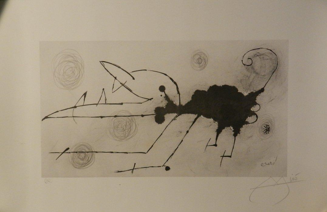 Hand Signed Joan Miro (Spanish, 1893-1983) Lithograph
