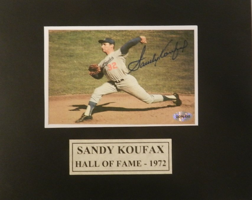 Sandy Koufax Autographed Matted Photograph