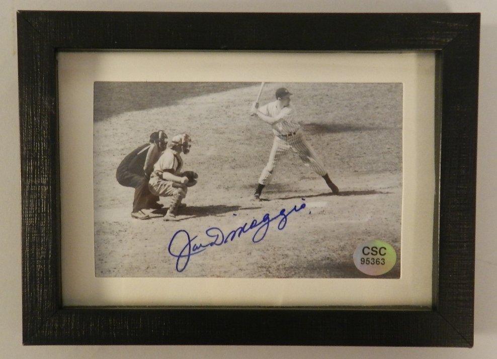 Joe DiMaggio Autographed Matted Photograph