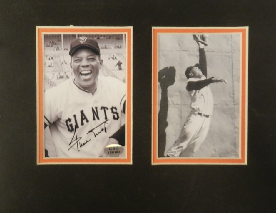 Willie Mays Autographed Matted Photograph
