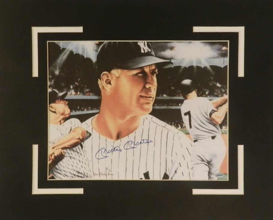 Mickey Mantle Autographed Matted Photograph