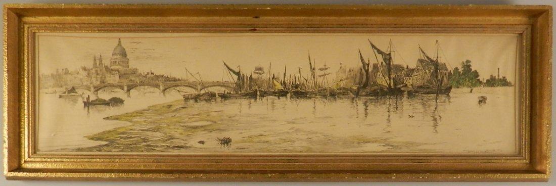 Frederick Leo Hunter Sailboat Lithograph
