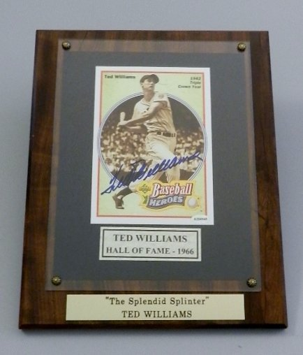 Ted Williams Hand Signed Baseball Photograph