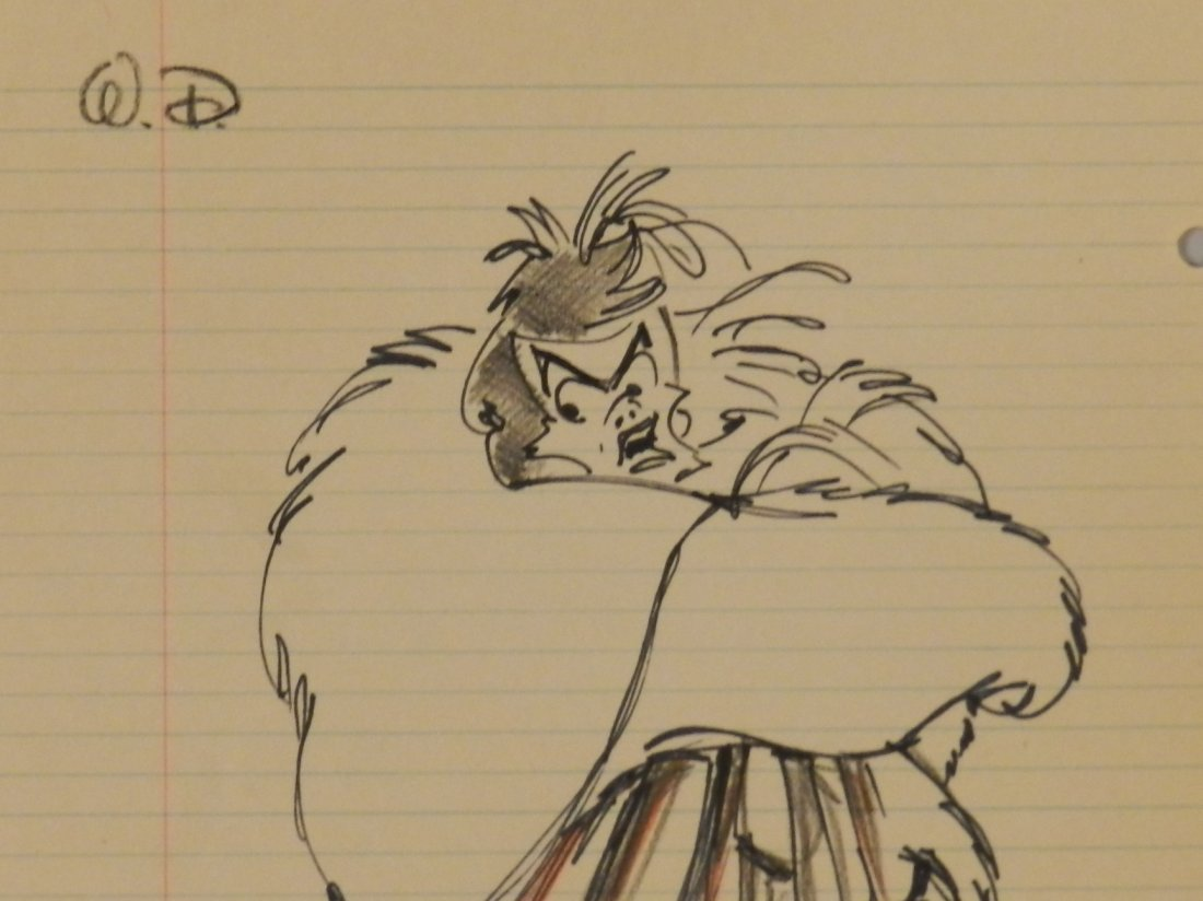 Cruella De Vil Character Sketch Signed Walt Disney - 3