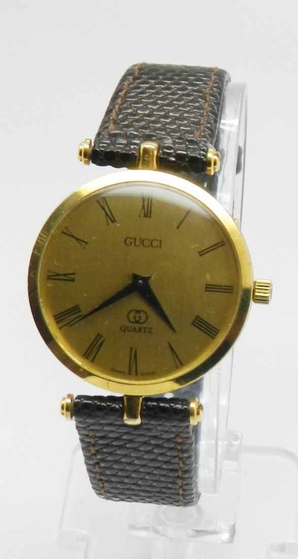 Vintage Gucci Men's Leather Watch