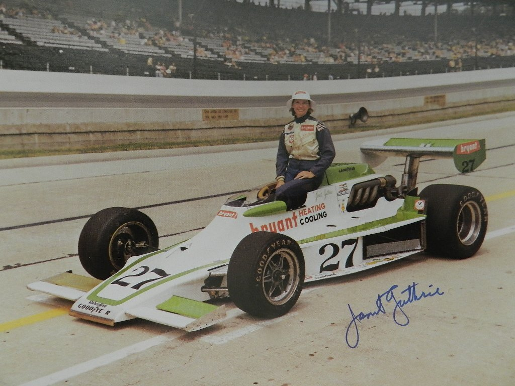 Janet Guthrie Signed Photograph