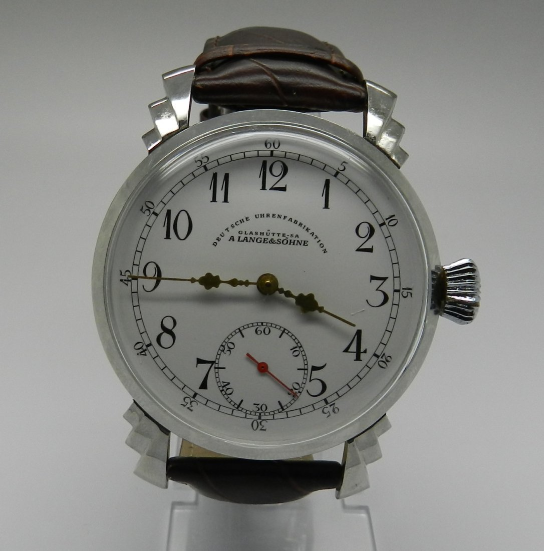 A.LANGE & SOHNE VINTAGE BROWN LEATHER BAND WATCH
