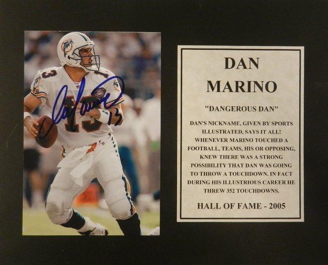 Dan Marino Autographed Matted Photograph
