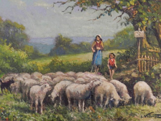 20th Century Oil on Canvas by L. Naircut