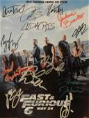 Hand Signed Fast & Furious 6 Cast Photo