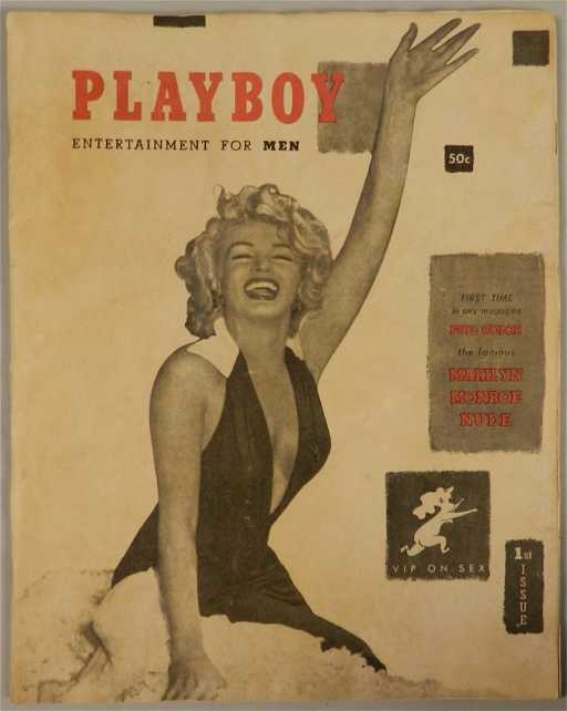 Marilyn Monroe Living Room Decor: Original Marilyn Monroe Playboy #1 Magazine 1953