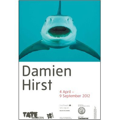 Damien Hirst exhibition offset lithograph - Shark