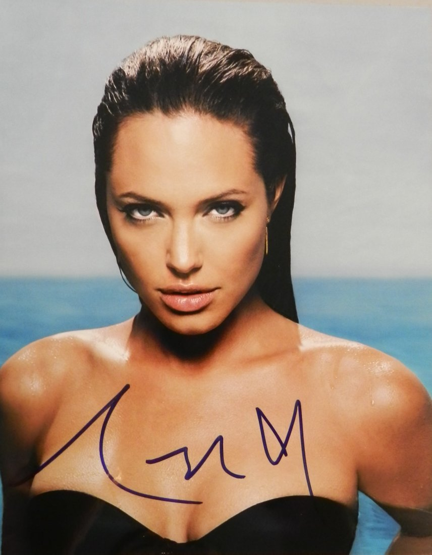 Angelina Jolie Hand Signed Photograph