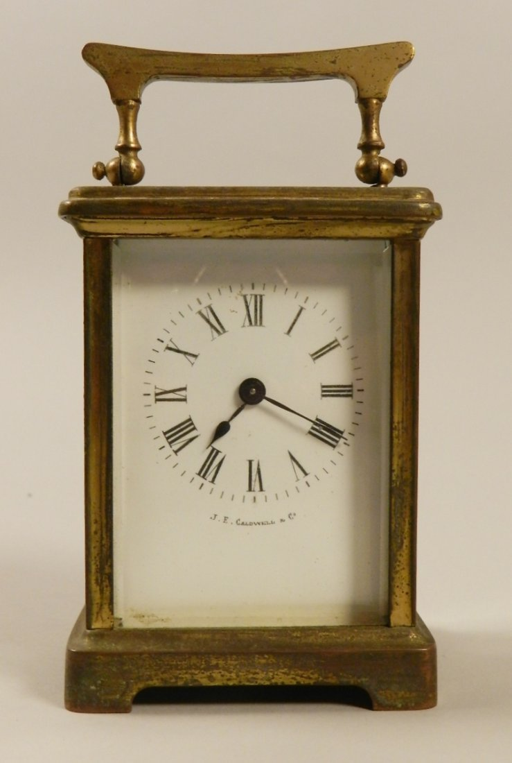 J.E Caldwell Brass Carriage Clock