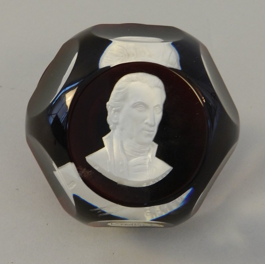 Baccarat Paper weight of James Monroe