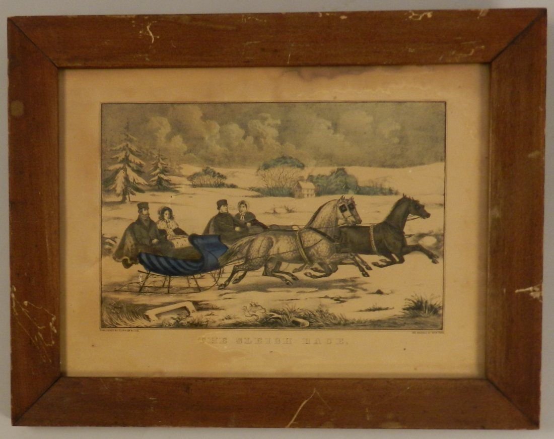 Antique Hand Colored Currier & Ives Lithograph