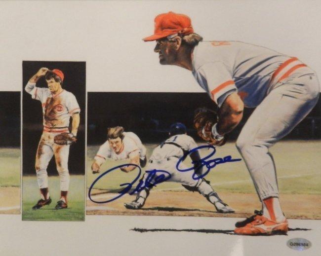 Pete Rose Autographed Photograph