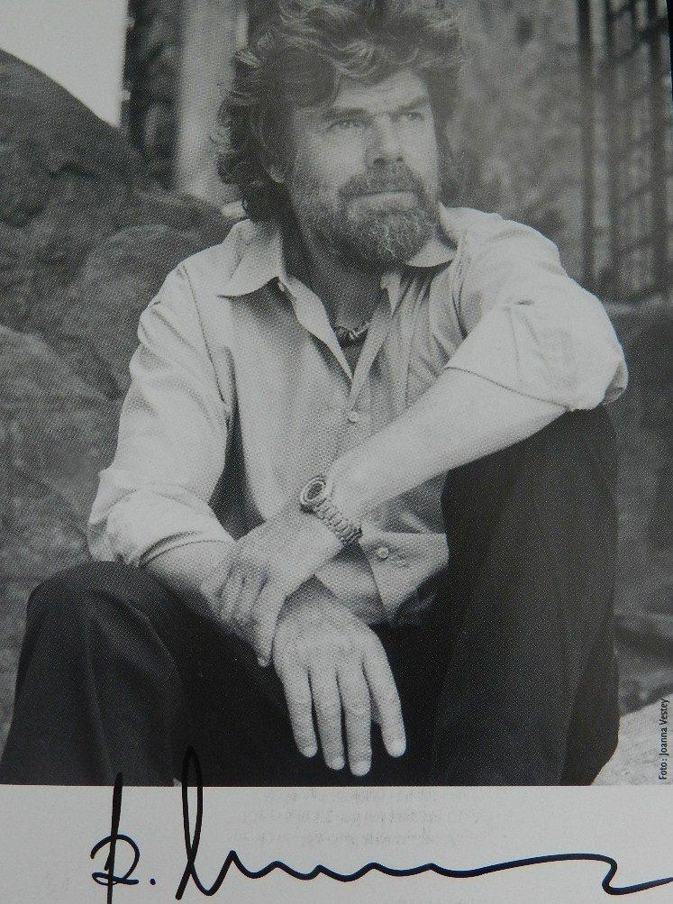 Reinhold Messner Hand Signed Photograph