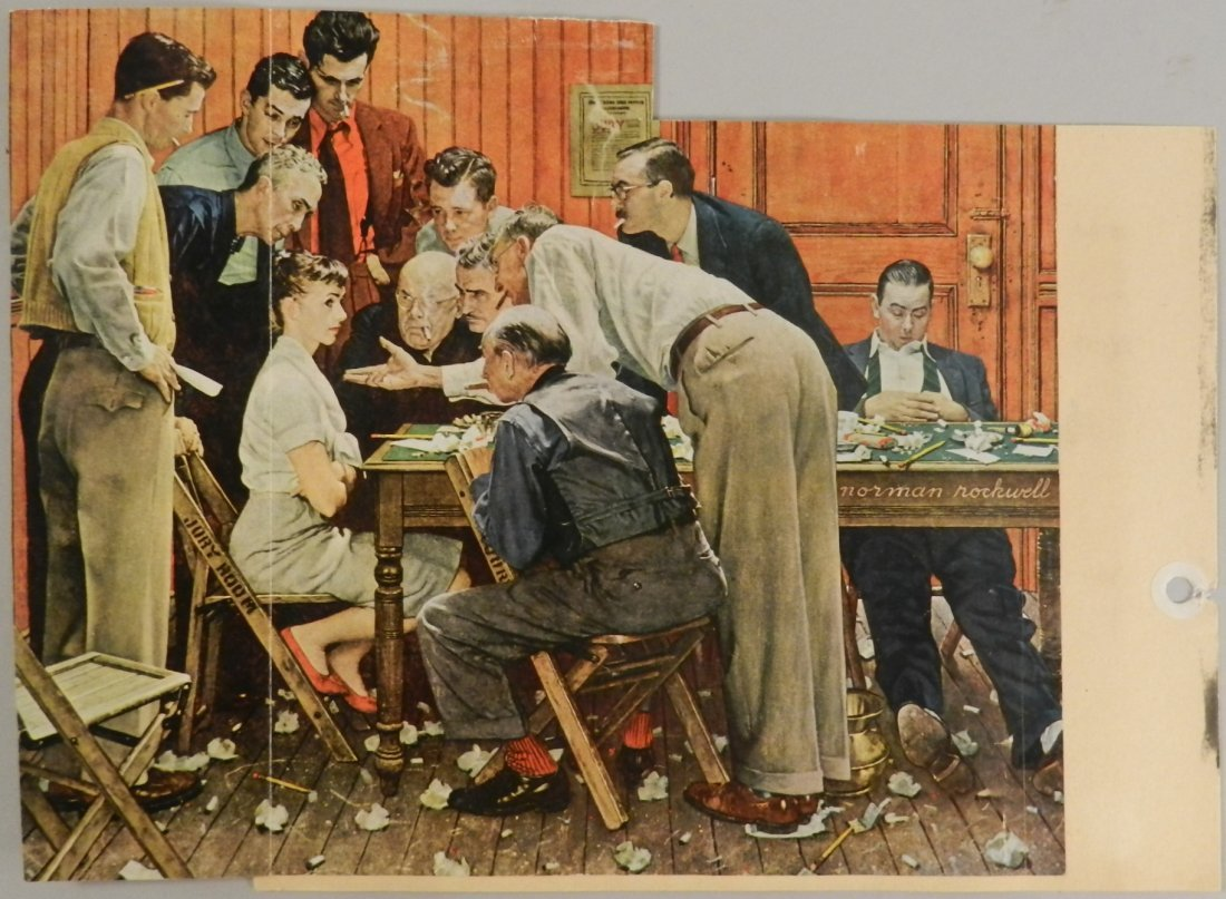 Norman Rockwell Hand Signed Mailing Card