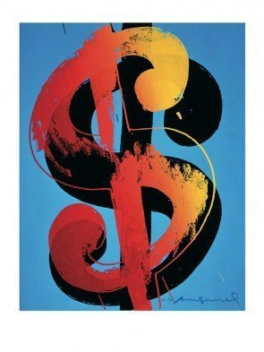 """Andy Warhol """"$1 Sign"""" Offset Lithograph Poster"""