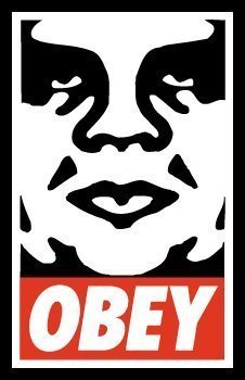 """Shepard Fairey """"Obey"""" Litho Hand Signed"""