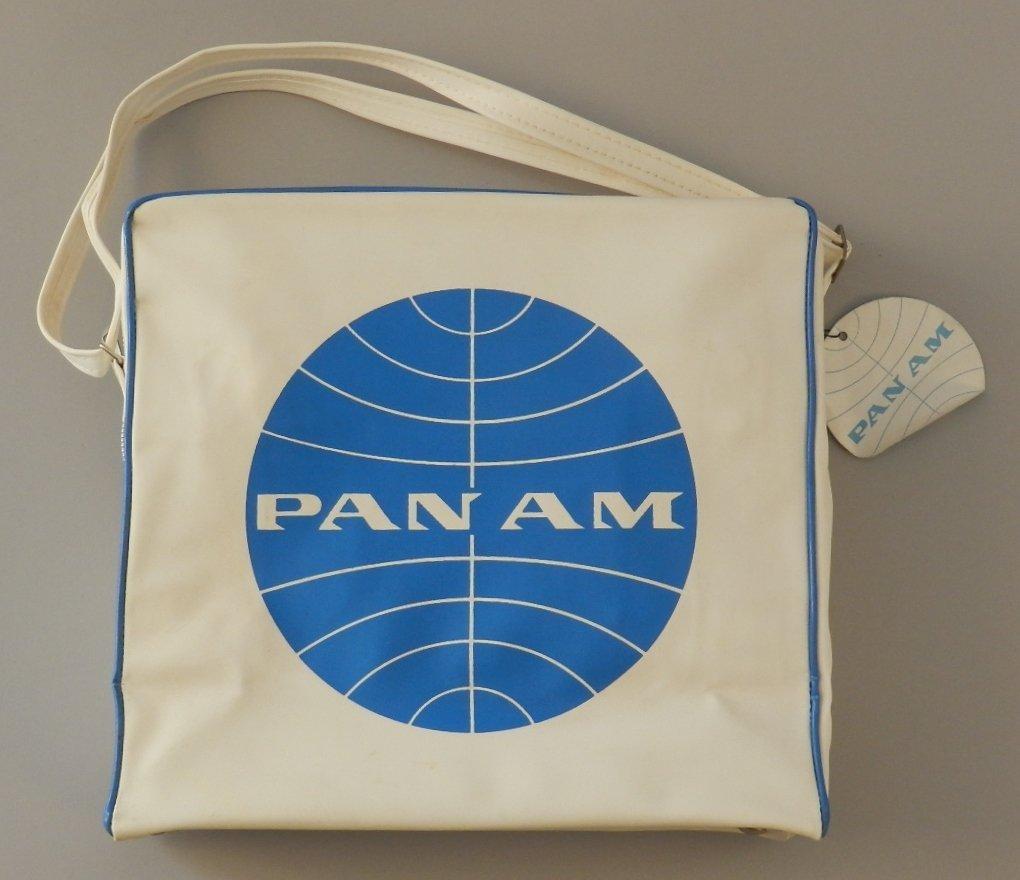 1960's White Pan Am Travel Bag