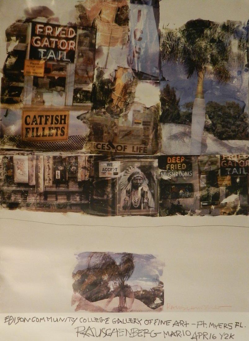 Robert Rauschenberg Hand Signed Gallery Poster